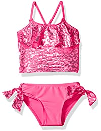 Baby Girls' Inf Foil Cheetah Print Two Piece Swimsuit