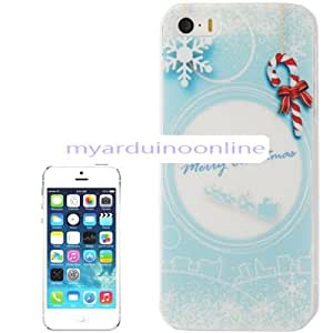 Christmas Series Snowflake Pattern Plastic Case for iPhone 5 & 5S