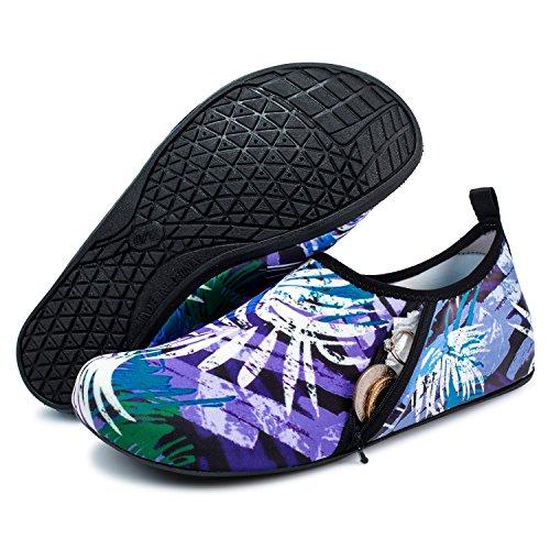 Zipper Barerun Water Womens Purple Mens Yoga Swim Beach Aqua Shoes Outdoor Sport Surf for Socks rqrOdt