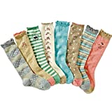 Celine lin Girl's Cute Princess Cotton Knee High Socks Boots Socks,8-Pair