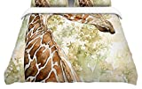 KESS InHouse Wildlife ''Africa 2''Featherweight Queen Duvet Cover, 88 x 88''