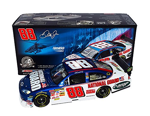 AUTOGRAPHED 2008 Dale Earnhardt Jr. #88 National Guard Racing PATRIOTIC PAINT SCHEME (Hendrick Motorsports) COT Car Signed Action 1/24 NASCAR Collectible Diecast Car with COA