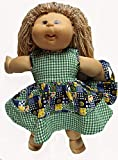 Patchwork Print Dress With Purse Fits Cabbage Patch Kid Dolls