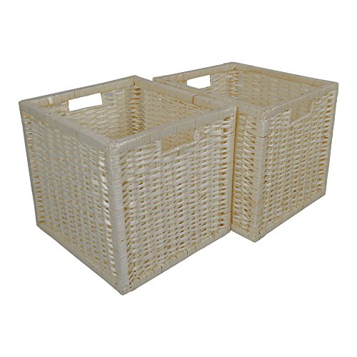 Set of 2 Square Willow Storage Baskets in Natural Wicker / Gift Baskets by Wovenhill Home Storage by Wovenhill Home Storage