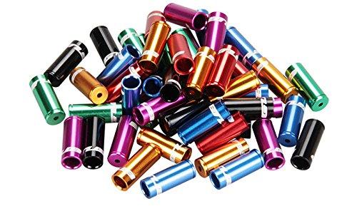 Mixed Color 100Pcs/Bottle 4mm Shift Alloy MTB Road Bike Brake Cable Cap Shift Cable Bicycle Derailleur Shifter Cable End Tip Cap GUB
