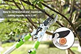 """Housolution Lopping Shears, 28-40"""" Extendable Hand Pruner Sharp Garden Clippers, 2.16"""" Cutting Capacity, Tree Trimmer SK-5 Steel Blade Non-Slip Aluminum Alloy Handle, Gre"""