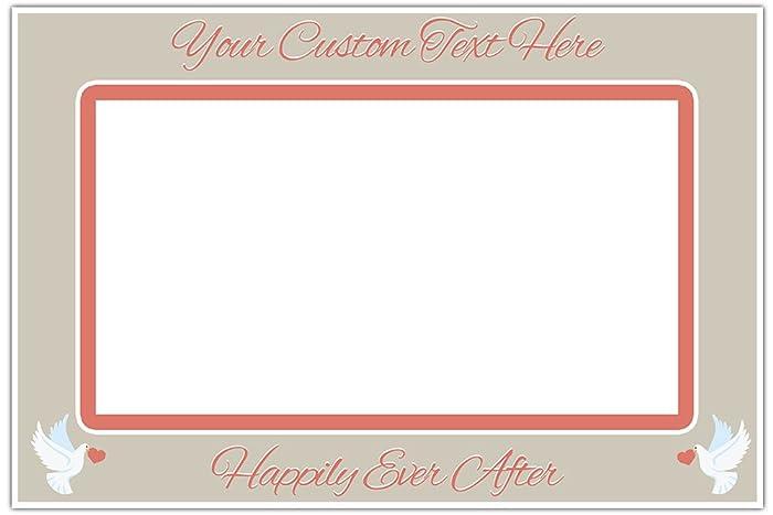 Amazon.com: Dove Wedding Gray and Coral Selfie Frame Polaroid Cutout ...