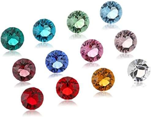 Set of 12 Swarovski Crystals for Loving Family Mother's Heart Locket