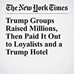 Trump Groups Raised Millions, Then Paid It Out to Loyalists and a Trump Hotel | Kenneth P. VogelandRachel Shorey