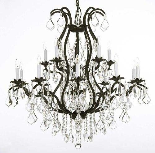 Chandelier Made with Swarovski Crystal Wrought Iron Chandelier Lighting Chandeliers Dressed with Swarovski Crystal
