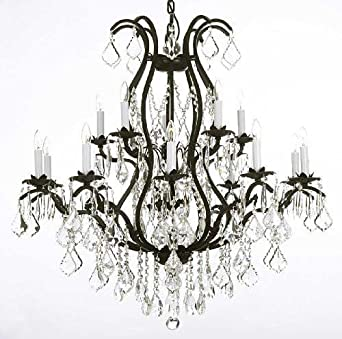 Wrought Iron Chandelier Crystal Chandeliers Lighting H36 X W36