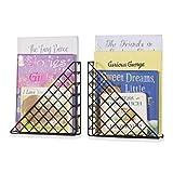 Wall35 Triangle Shape Multi-Use Wall Mounted Nursery Decor - Kids Book Shelves - Magazine Racks Metal Black Set of 2