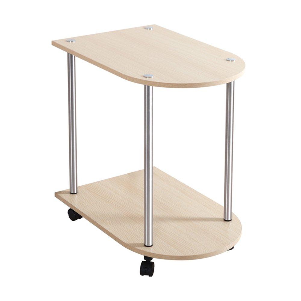 FEIFEI 2層サイドテーブル多機能ストレージラックスナックテーブルコーヒーテーブルロックキャスターモバイルティーセットフレーム (色 : B) B07F8JZXNS B B