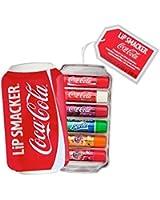 Lip Smacker Coca-Cola Geschenkbox (Coca-Cola Classic, Coca-Cola Vanilla, Sprite, Fanta Orange, Fanta Strawberry, Fanta Pineapple), 6 Stück
