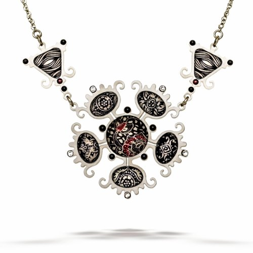 Artazia Night Frost Black Tones Noir Fashion Necklace N5413 (Noir Black Necklace)