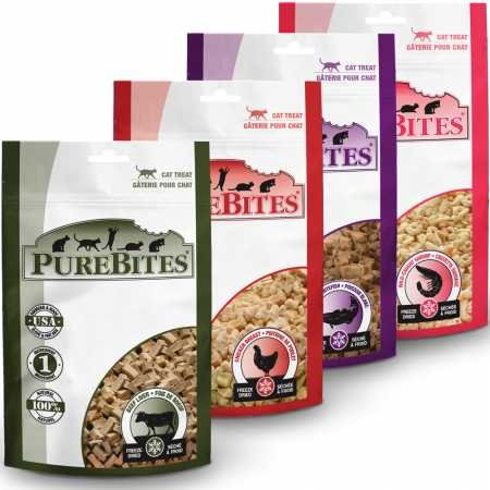 (PureBites Cat Treats (Sampler 4 Pack))