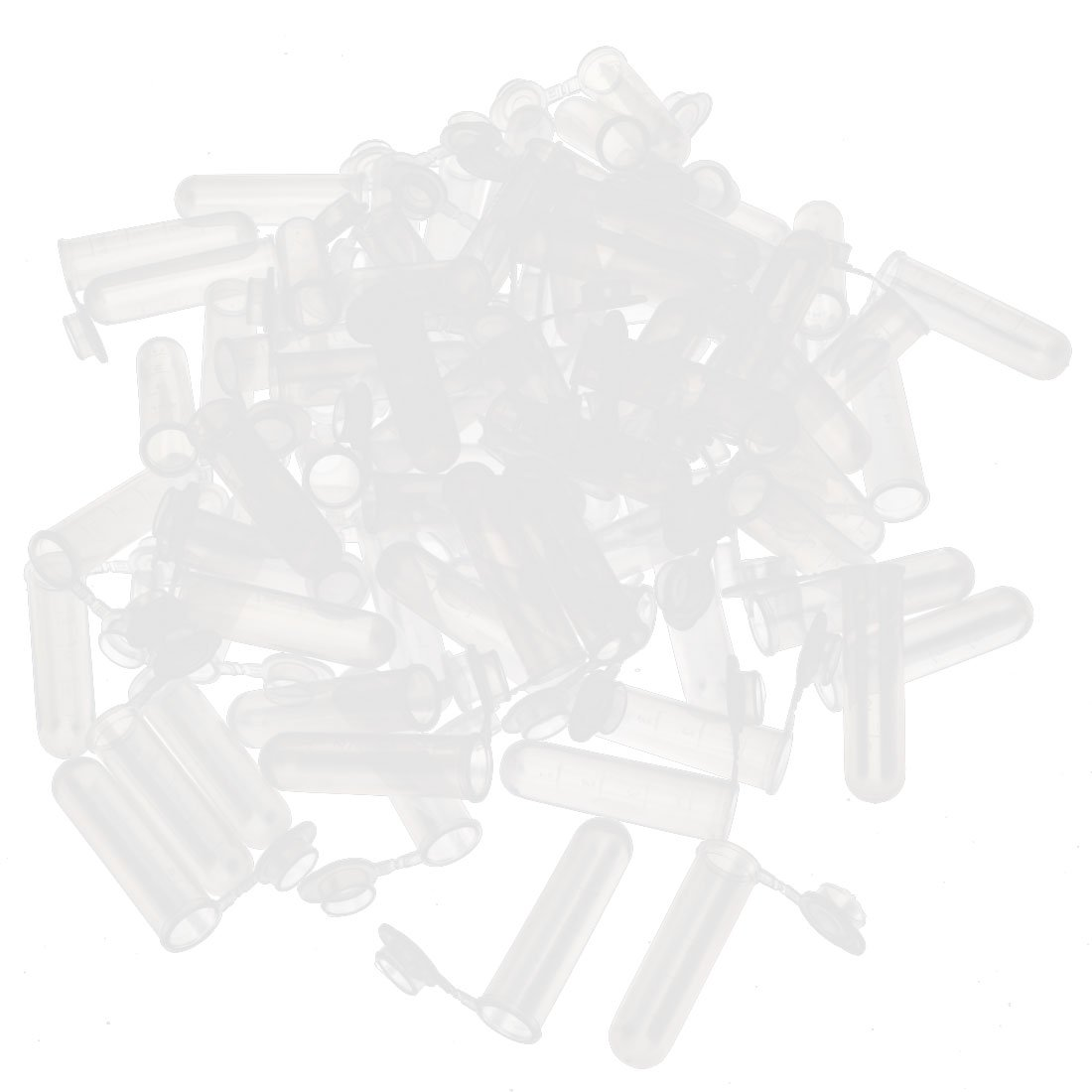 uxcell Plastic Graduated Sample Collection Holder Centrifuge Tube 5ml 300 Pcs