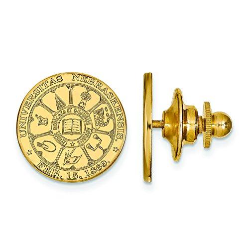 Pin Lapel Nebraska - Nebraska Crest Lapel Pin (Gold Plated)