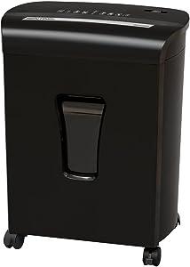 Sentinel Shredders FM101P-BLK 10 Sheet High Security Micro-Cut Paper/Credit Card Shredder Black