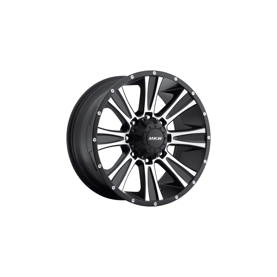 MKW Offroad M87 17 Black Machined Wheel / Rim 8x6.5 with a 10mm Offset and a 130.80 Hub Bore. Partnumber M87 1790816510B