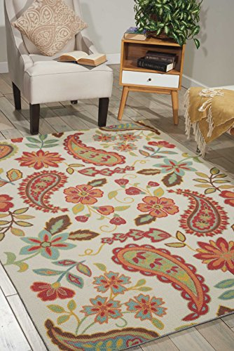 Nourison Vista (VIS06) Ivory Rectangle Area Rug, 8-Feet by 10-Feet (8' x 10')