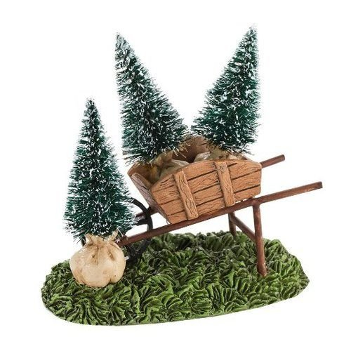 Department 56 Decorative Accessories for Villages My Garden Wheelbarrow Accessory, 1.77 inch (Wheelbarrow Accessory)