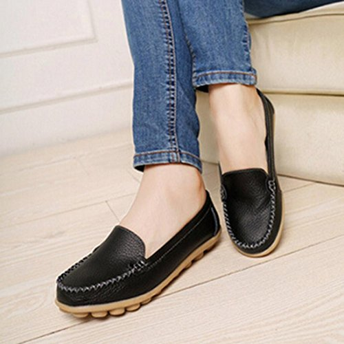 Calzado de mujer, Amlaiworld Slip On Comfort Zapatos planos Mocasines negro