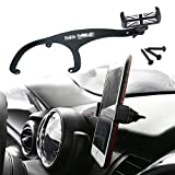 car accessories for mini cooper - GTinthebox Smartphone Cell Phone Cup Mount Holder with Cradle Rotatable Clip (Black & Gray Union Jack Flag Style, 3.5-5.5 Inch Phone) For Mini Cooper R55 R56, 1 Pack