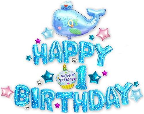 Amazon.com: Goer Cute Azul Las Letras Del Alfabeto y globos ...