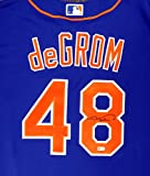 New York Mets Jacob deGrom Autographed Blue Majestic Jersey Size XL MLB Holo