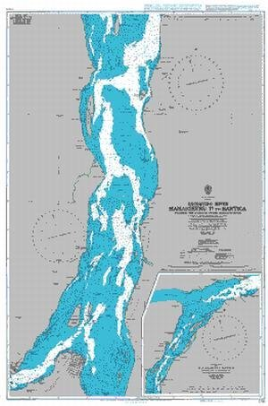 BA Chart 2783: Essequibo River - Mamarikuru Is. to Bartica including the Entrance to the Mazaruni River