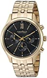 CARAVELLE NEW YORK Men's Quartz and Stainless-Steel Dress Watch, Color: Gold-Toned (Model: 44A108)