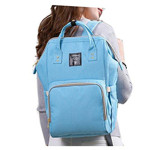 BigForest SUNVENO Maternity Multifunction Mummy Backpack Travel Tote Bag Handbag Baby Diaper Nappy Changing Bag Sky blue
