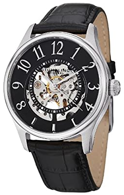 Stuhrling Original Men's 746L.SET.02 Delphi Solaris Automatic Skeleton Black Watch with Additional Strap by Stuhrling Original