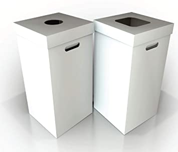 Desechables cartón para basura y papelera de reciclaje + ...