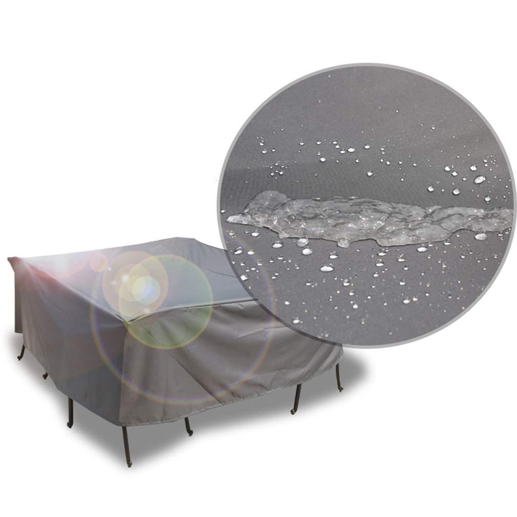 Mei Xu ダストカバー - 屋外家具ダストカバーテーブルと椅子防水保護カバー雨サンスクリーンソファカバー機器カバー(15サイズ) @ (Size : A-11-220x220x70cm)  A-11-220x220x70cm