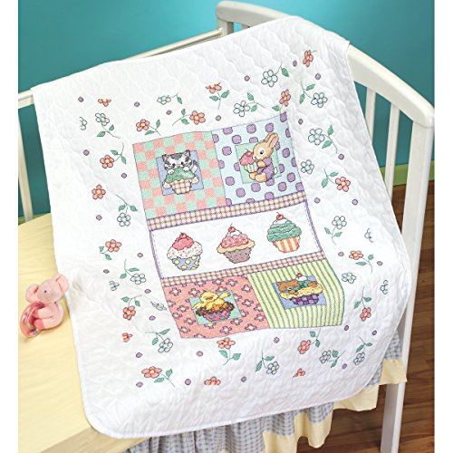 Janlynn Stamped Cross Stitch Quilt, Sweet as a Cupcake