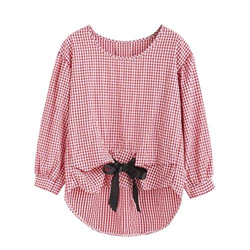 [S-XL] レディース Tシャツ グリッド プリント シャツ カジュアル 長袖 トップ おしゃれ ゆったり 人気 高品質 快適 薄手 ホット製品 通勤 通学