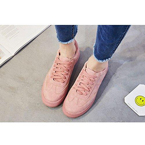 Hoxekle Kvinnor Mode Sneaker Andas Övre Spets-up Casual Skor