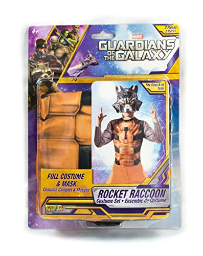 Boys Superhero Halloween Costume Set, Kids Guardians of The Galaxy Costume Kit (Rocket Raccoon) -