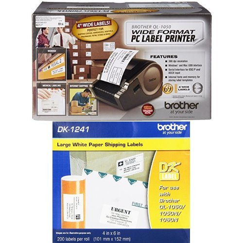 Brother QL-1050 Wide Format PC Label Printer