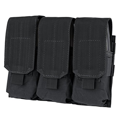 GVN Tactical Triple Mag Pouch, PALS MOLLE AR M4 5.56/.223 Triple Magazine Pouch Mag Holder