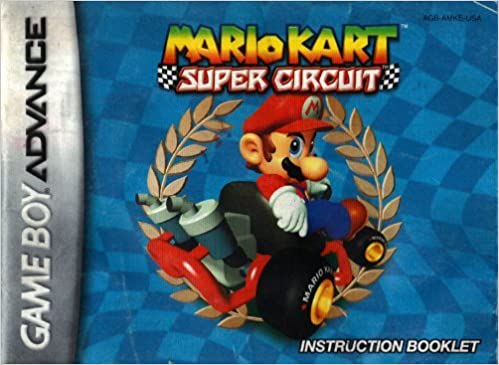 Mario Kart Super Circuit Instruction Booklet Users Guide Book