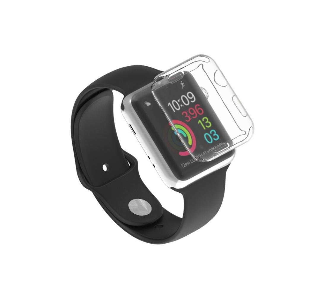 Gotd Ultra-Slim Electroplate TPU Soft Case Cover For Apple Watch Series 3 42mm (Clear) by Goodtrade8 (Image #3)