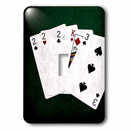 3dRose (lsp_270476_1) Single Toggle Switch (1) Poker Hands Kind. Two, King, Three by 3dRose