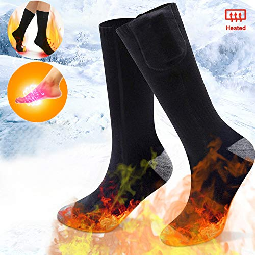 Electric Rechargeable Battery Heated Socks for Men Women,Winter Warm Thermo-Socks Outdoor Sports Ski Heating Sox for Cold Feet Thermal Socks Foot Warmer ...