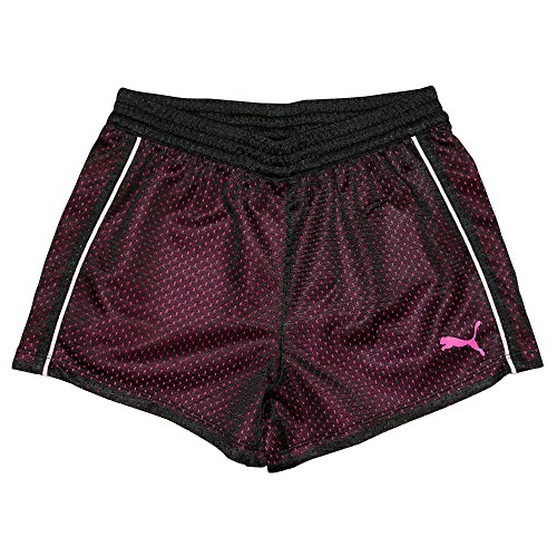 PUMA Little Girls' Active Double Mesh Short, Black, 4
