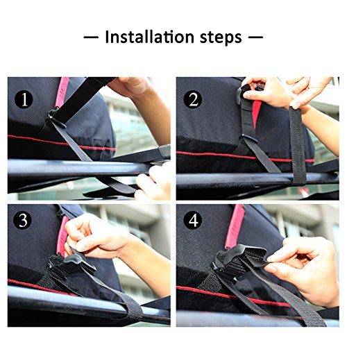 Luerme Outdoor Travel Camping Car 220L Waterproof Rainproof Dustproof Roof Top Cargo Carrier Oxford Cloth Roof Bag by Luerme (Image #7)