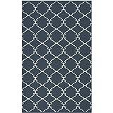 Surya Juniper JNP-5019 Flatweave Hand Woven 100% Wool Midnight Blue 2' x 3' Global Accent Rug
