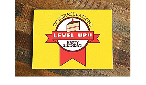 photo about Funny Birthday Card Printable identified as : Amusing Gamer Birthday Card, Position Up Amusing